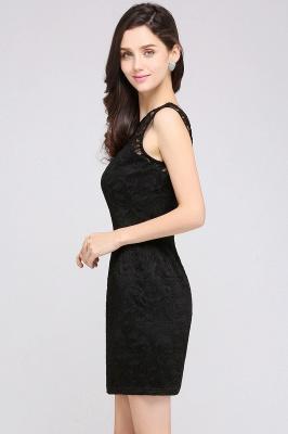 ARYA | Cheap Sheath Scoop Black Lace Homecoming Dresses | Sexy Short Prom Dresses_5