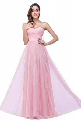 ADRIANNA | A-line Strapless Sweetheart Tulle Ruched Bridesmaid Dress_8