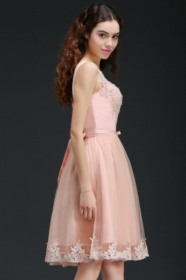 ANIYAH | A-line Short Cute Homecoming Dress With Lace_7