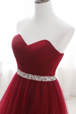Cheap modest sweetheart sleeveless beading a-line prom dress in Stock_13