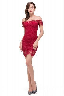 FERNANDA | Mermaid Off Shoulder Short Burgundy Lace Prom Dresses_2