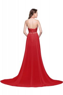 ADELE | A-line Halter Chiffon Lace Evening Dress_3
