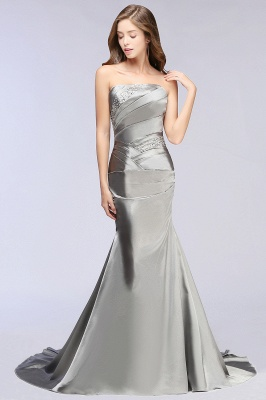 CELESTE | A-line Strapless Satin Party Dress_4