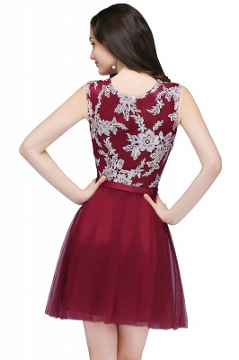 Cheap Pink Short Homecoming Dress with Lace Appliques in Stock_5