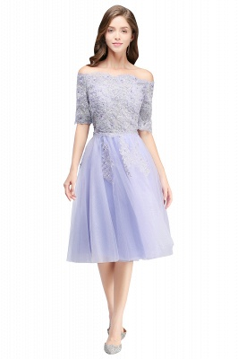 Cheap A-line Short Sleeves Tulle Lace Flower Girl Dress in Stock_6