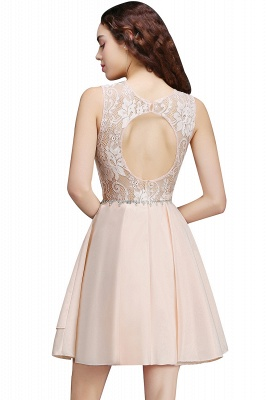 A-line Short Cute Homecoming Dress With Lace_3