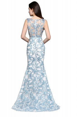 Mermaid Sweep Train Lace Evening Dresses_4