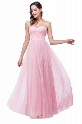 ADRIANNA | A-line Strapless Sweetheart Tulle Ruched Bridesmaid Dress_5