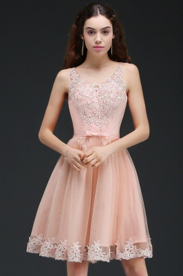 ANIYAH | A-line Short Cute Homecoming Dress With Lace_5