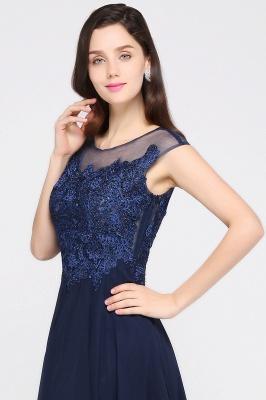 Cheap Cap Sleeve Lace Appliques Long Chiffon Evening Dress in Stock_8