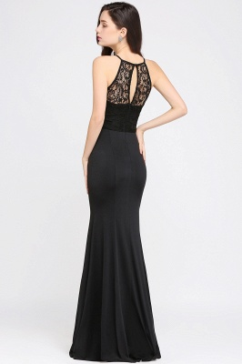 CHERISH | Mermaid Halter Floor-length Chiffon Black Prom Dress_5
