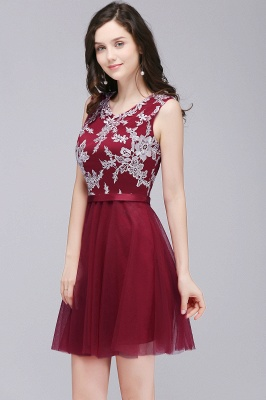 Cheap Pink Short Homecoming Dress with Lace Appliques in Stock_6