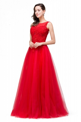 Chic Occasion Sepcial Sheer A-Line Red Evening Dresses_2