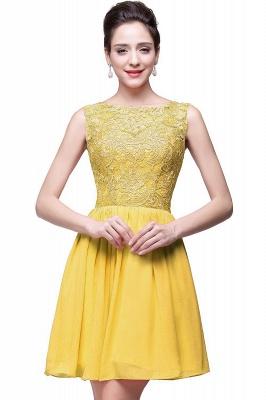 Cheap Short Chiffon Homecoming Dresses | Affordable Knee Length Chiffon Lace Party Dresses_2