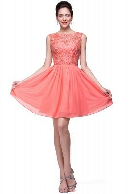 Cheap Short Chiffon Homecoming Dresses | Affordable Knee Length Chiffon Lace Party Dresses_15