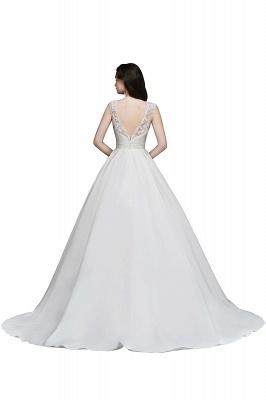 ELIZABETH | A-line Sleeveless Floor-length Chiffon Lace Wedding Dresses_4