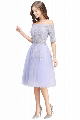 Cheap A-line Short Sleeves Tulle Lace Flower Girl Dress in Stock_8