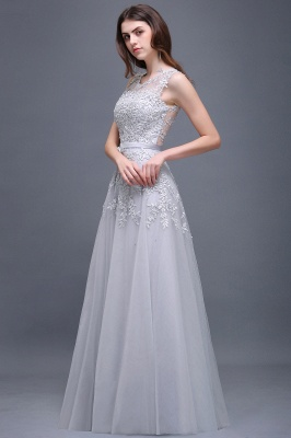 A-line Floor-length Tulle Prom Dress with Appliques_11