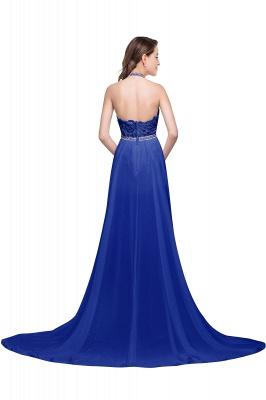 ADELE | A-line Halter Chiffon Lace Evening Dress_7