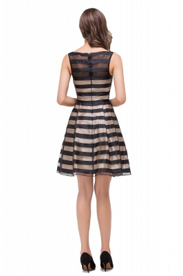 A-line Scoop Sleeveless Short Tulle Prom Dresses_3