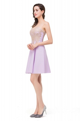 Cheap Short Applique Sleeveless Prom Homecoming Dress in Stock_8
