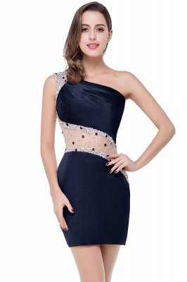 Cheap Cheap Crystal Beading One-shoulder Short Mermaid Prom Dress in Stock_4