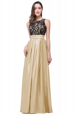 ELLIE | Elegant A-line Floor-length Crew Chiffon Lace Bridesmaid Dresses_1