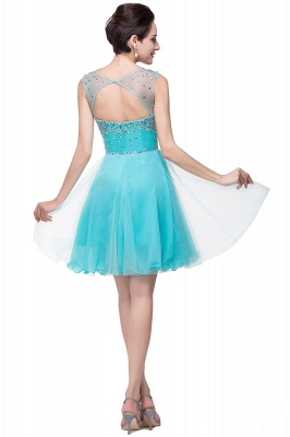 Cheap Open Back Sleeveless Chiffon Homecoming Dress Crystal Beads Tulle Short Prom Dress in Stock_8