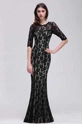 Mermaid Jewel Lace Black Sexy Evening Dresses_4