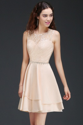 A-line Short Cute Homecoming Dress With Lace_4