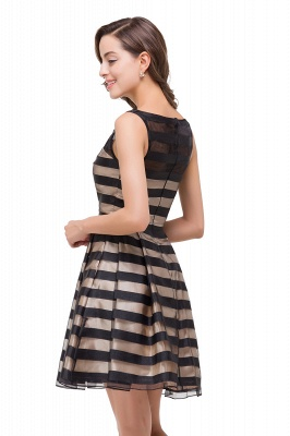 A-line Scoop Sleeveless Short Tulle Prom Dresses_5