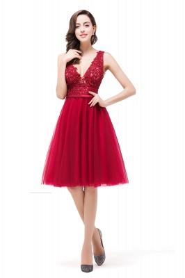 EVIE | A-Line Deep V-Neck Sleeveless Short Prom Dresses with Appliques_7