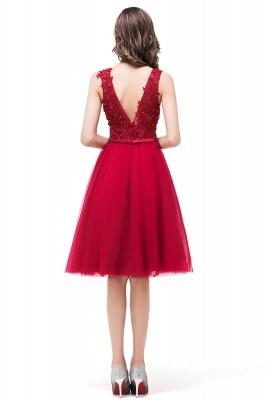 EVIE | A-Line Deep V-Neck Sleeveless Short Prom Dresses with Appliques_3