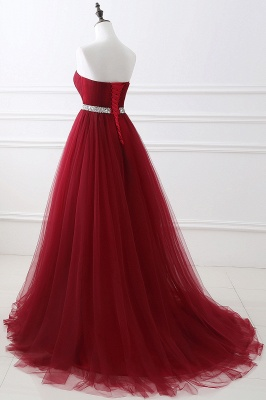 Cheap modest sweetheart sleeveless beading a-line prom dress in Stock_12