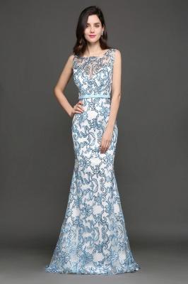 Mermaid Sweep Train Lace Evening Dresses_5