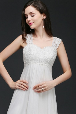 A-Line Sweep Trains Glamorous Wedding Dresses with Lace_7