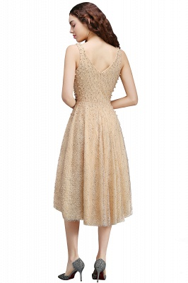 A-line Hi-Lo Popular Homecoming Dress With Pearls_2