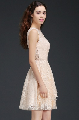 Cheap Modern Lace Pearl Pink Illusion Sleeveless Short Homecoming Dress in Stock_6