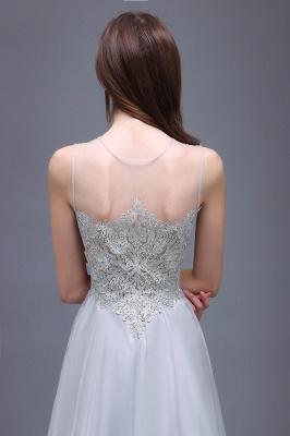 Cheap Gorgeous Lace Chiffon Long Prom Dress in Stock_4
