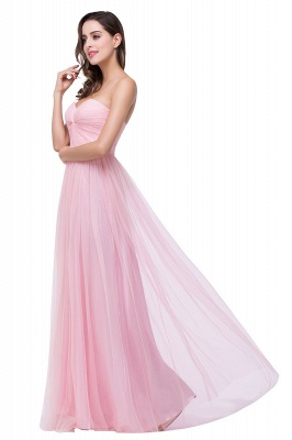 ADRIANNA | A-line Strapless Sweetheart Tulle Ruched Bridesmaid Dress_6