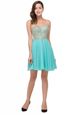 A-line Sleeveless Short Chiffon Prom Dresses with Appliques_8