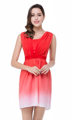 ADRIANA   A-line Jewel Red Bridesmaid Dress_4