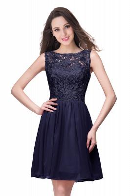 Cheap Short Chiffon Homecoming Dresses | Affordable Knee Length Chiffon Lace Party Dresses_6