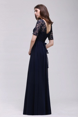 Cheap Half-Sleeve Lace Long Chiffon Evening Dress in Stock_11