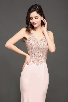 ALLYSON | Mermaid V-Neck Pearl Pink Prom Dresses with Beads_5