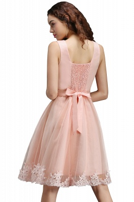 ANIYAH | A-line Short Cute Homecoming Dress With Lace_3