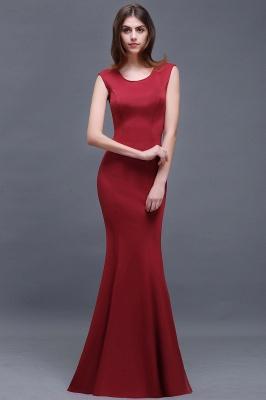 Sheath Scoop Floor-Length Elegant Evening Dresses_6