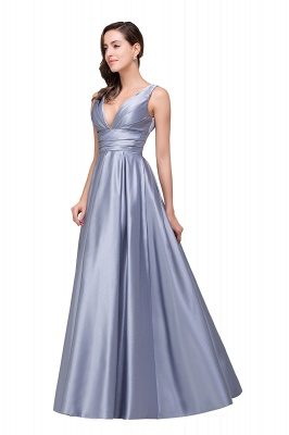 Sexy Evening Gowns Deep V Neck Beaded Pageant Dresses_6