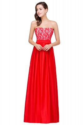 EVERLY | A-line Sleeveless Sweetheart Floor-Length Red Chiffon Prom Dresses_2