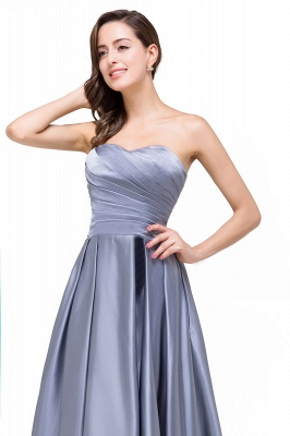 Elegant Long A line Strapless Prom Gown Evening Dress In Stock_8